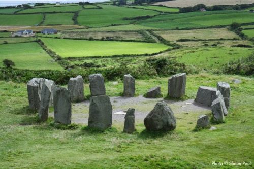 Drombeg Stone Circle (also called The Druids Altar) in Co. Cork, Ireland.