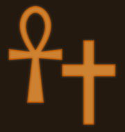 The Egyptian Ankh and the Christian Cross.  Both symbolizing everlasting life and both come with built-in handles making them excellent for warding off the undead.