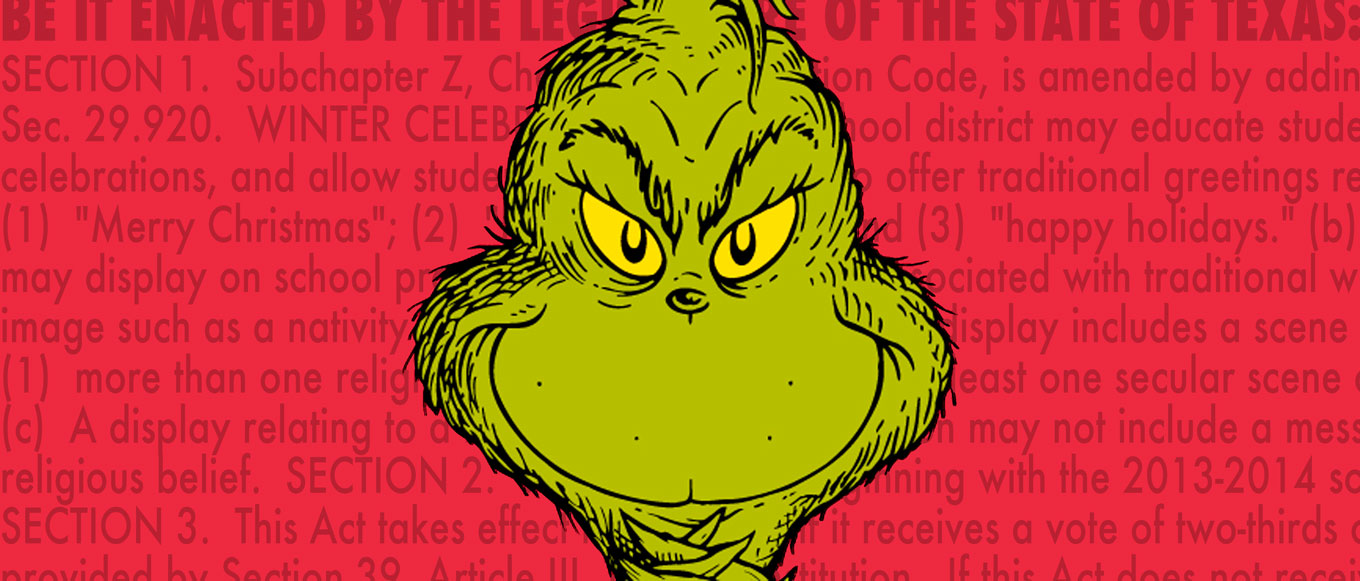 Angry Grinch Face Be safe from the grinch.