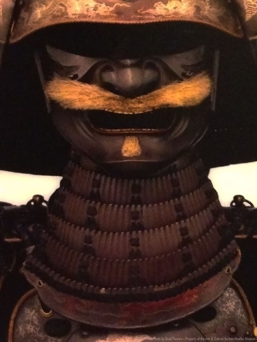 Kabuto and Menpō (helmet and half-mask) from the late Edo period.