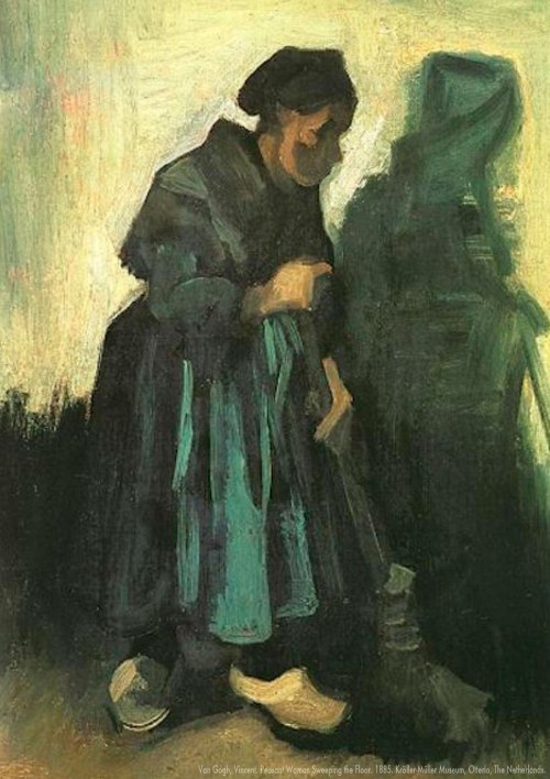 Van Gogh Woman Sweeping
