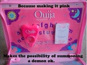 Pink Ouija Meme